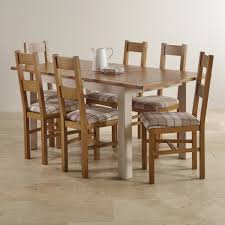 solid oak dining room sets kemble extending dining set in painted oak table 6 chairs