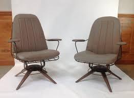 mid century modern rocking chair pair of mid century homecrest