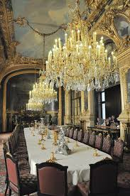 Royal Dining Room Royal Palace Dining Room And Chandeliersat Louvre Palace