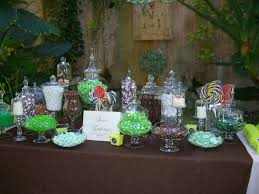 Candy Buffet Table Ideas Lime Green And Brown Candy Buffet Lisa Runolfson Flickr