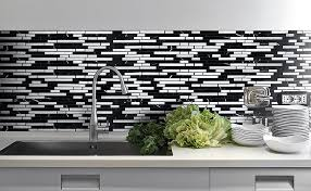 black kitchen backsplash black gray and white backsplash tile backsplash