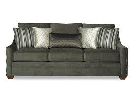 Craftmaster Sofa Fabrics Craftmaster 7335 Casual Fabric Sofa With Track Arms And Nail Head