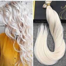 keratin tip extensions i tip solid color platinum remy human hair pre bonded