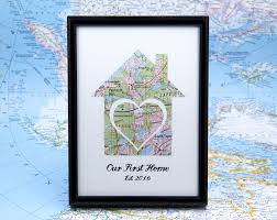 our first home map realtor gifts 1st home gift ideas wife