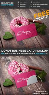 donut free business card psd mockup template responsive joomla