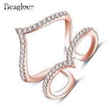 vintage chevron gold diamond v shape ring buy diamond v shape beagloer new design womens finger ring gold plated micro