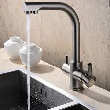 brushed nickel kitchen faucets brewst brushed nickel kitchen faucet with filtered water kitchen