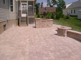 Concrete Patio With Pavers Bract Retaining Walls And Excavating Llc Concrete Pavers