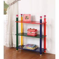 buy 3 tiered bookstand shelving unit pencil themed kids