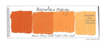 colorways annie sloan chalk paint barcelona orange and tints