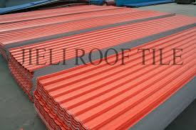 Tile Roofing Materials Resin Roofing Roof Tile Look Ribbed Jieli Resin Upvc Plant