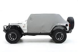 grey jeep wrangler 4 door smittybilt 1069 cab cover with door flaps in gray for 07 18 jeep