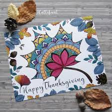 thanksgiving mandala autumn leaf placemat u0026 coloring page hattifant