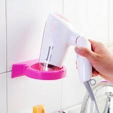 Hair Dryer Glue multifunctional pvc self adhesive hair dryer holder bathroom
