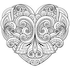 25 heart coloring pages ideas valentine