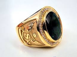 men rings stone images Custom bishops ring green stone men 39 s signet 14k yellow gold by jpg