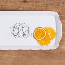 monogrammed platters and trays custom dinnerware china for tablescape wedding registry