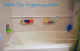 bathroom toy storage ideas hooked on pinterest organization bath toy storage for simple