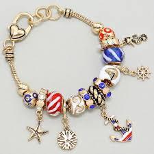 charm bracelet european images Gold european style anchor charm bracelet JPG