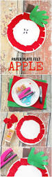 apple craft for kids with felt and paper plates darice
