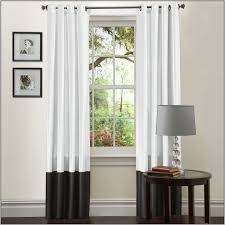 black sheer curtains with grommets black and white striped modern
