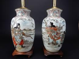 Antique Hand Painted Vases Pair Of Antique Chinese Hand Painted Vases Lamps Painted Vases