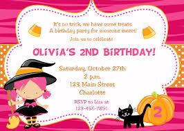 Kid Halloween Birthday Party Ideas by Halloween Birthday Party Invitation U2013 Festival Collections