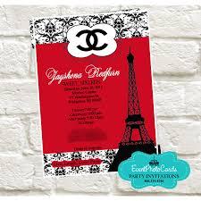 coco chanel gold wedding invitations fashion couture