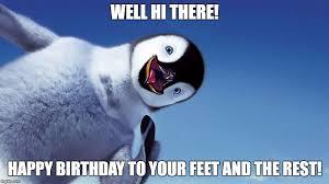 Happy Feet Meme - happy feet birthday imgflip