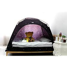 amazon com camp 365 child u0027s indoor privacy and play tent on bed
