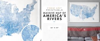 Map Of United States Rivers by Free Printable Wall Art America U0027s Rivers And More Primer