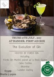 blinder cuisine gin at aid box herne hill