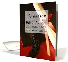 book for high school graduate grandson high school graduation wishes greeting card by