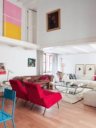 danish living room contemporary red and white living room interiors by color