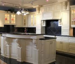 white kitchen cabinets with dark floors pull up faucet mix smooth