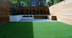garden design ideas low maintenance modern garden design courtyard easy lawn grass cedar hardwood