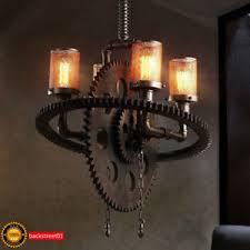 Steunk Light Fixtures Steunk Gear Pipe Chandelier Edison Light Heavy Metal Pendant