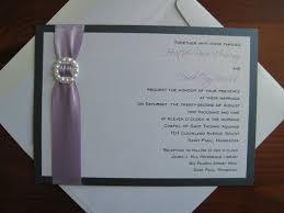 Layered Wedding Invitations Purple Silver White Fall Invitations Spring Summer Winter Wedding