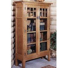 woodworking project paper plan to build glass door bookcase