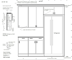 Kitchen Cabinet Diagram by Cut Cabinet Above Refrigerator Best Cabinet Decoration