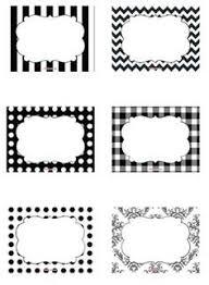 free printable labels black and white blank journalingsage com