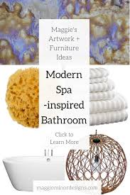 how to create a modern spa inspired bathroom u2014 maggie minor designs