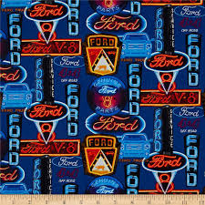 ford mustang ford neon signs discount designer fabric fabric com