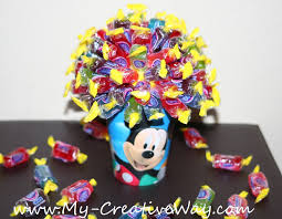 mickey mouse centerpieces my creative way mickey mouse centerpiece candy bouquet