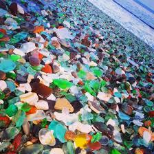 beach of glass russia s sea glass beach sparkles in the sun