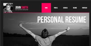 Resume Website Template Free Personal Resume Website Templates Free How To A