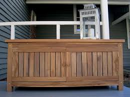 Wood Outdoor Storage Bench Home Teak Outdoor Storage Bench U2014 Railing Stairs And Kitchen