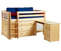 Bunk Bed With Desk And Dresser Maxtrix Box1 Low Loft Bed With Desk And Dressers Bed Frames