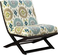 armless accent chair slipcover furniture attractive armless accent chairs with wood frame and ikat
