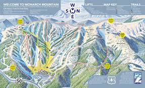 Utah Ski Resort Map by Trail Map Monarch